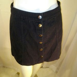 Divided by H&M Women's Black Button Down Skirt 8